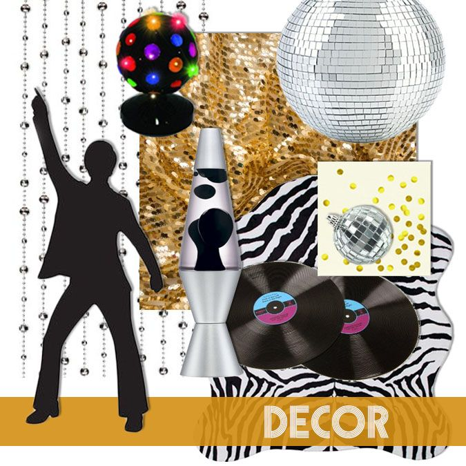 Studio 54 disco party decorations