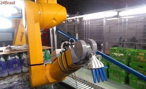 Braço robótico consegue pegar frutas e vegetais sem danificá-los