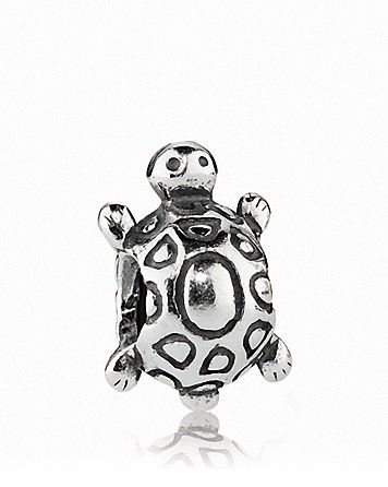 PANDORA Charm - Sterling Silver Turtle | Bloomingdale's Woohoo! I bought a few of these in color at cabo! For a fraction of the price! Hahaha 2 for $3.