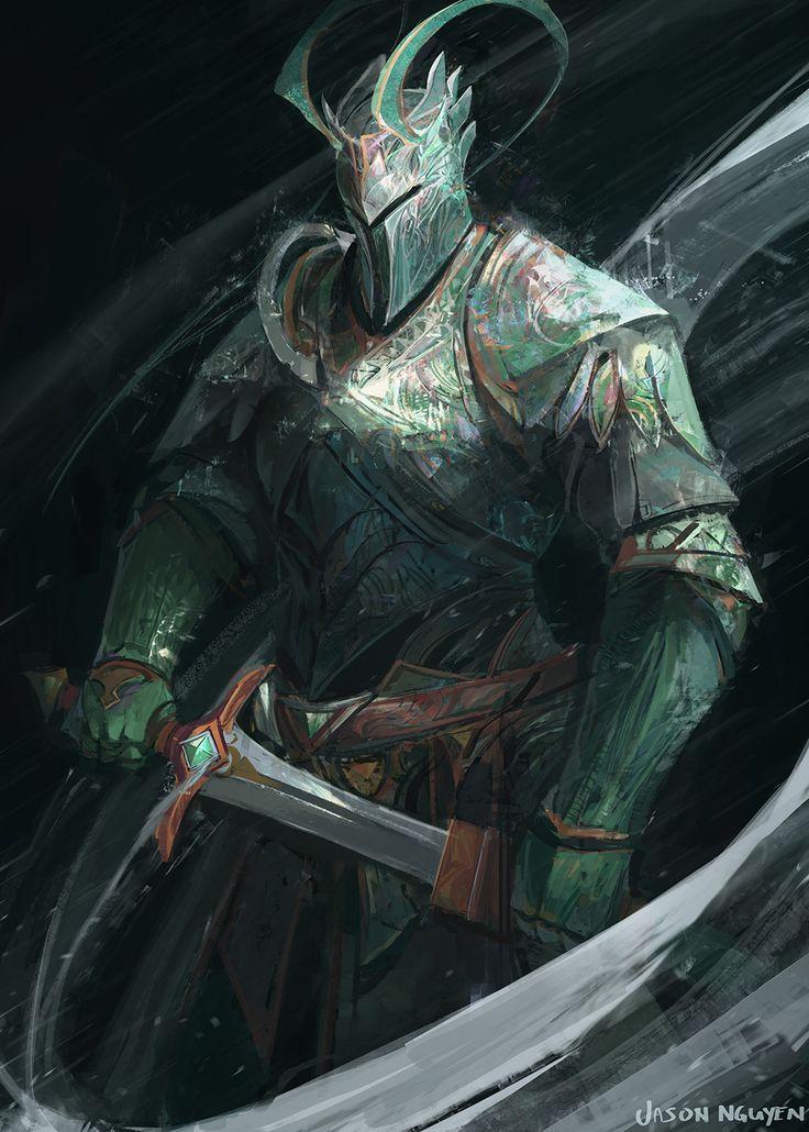 Wind Knight, Jason Nguyen on ArtStation at https://www.artstation.com/artwork/GERRz