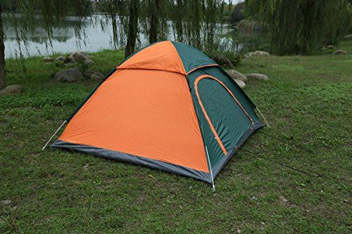 Introducing Blue Mountain Pop Up Camping Tent Outdoor Travel Backpacking 34 Person AutomaticInstant Portable Fishing Hiking Camping Light Weight With Portable Pack Easy Setup OrangeGreen. Great product and follow us for more updates!