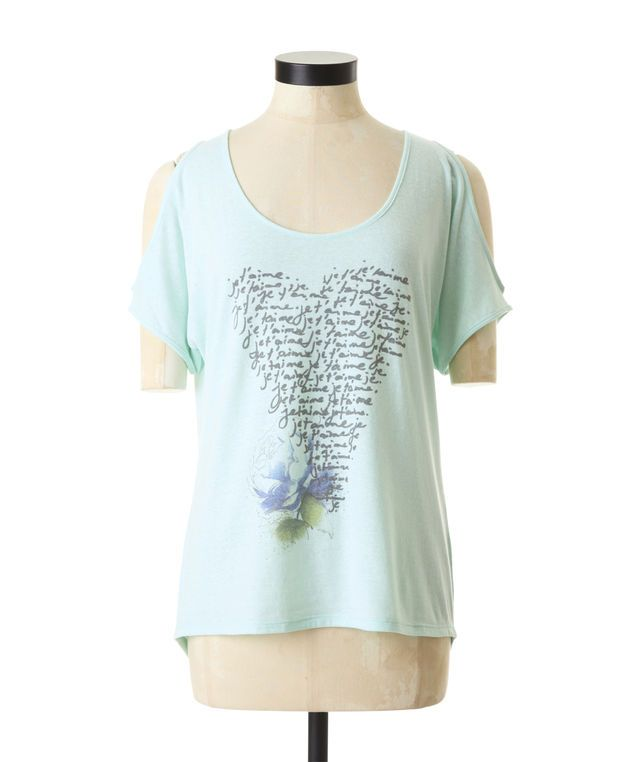 Je t'aime dolman sleeve graphic tee -- soft and airy for summer! @Bootlegger