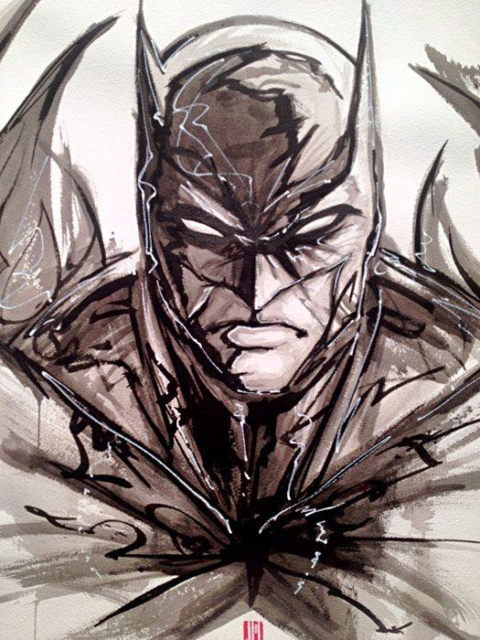 SDCC '12: DC Comics 'DARKNESS and LIGHT' ArtExhibit (Batman)