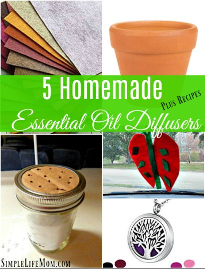 These Homemade Essential Oil Diffuser Methods are simple, frugal, and a great alternative for a healthy air freshener: recipes for colds, holidays, and more