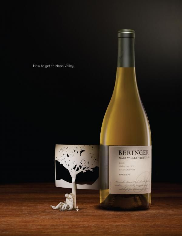 "Beringer Wine: ""TREE"" Print Ad  by Publicis & Hal Riney"