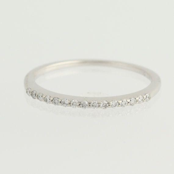 Diamant Ehering 14k White Gold Damen Ring von WilsonBrothers
