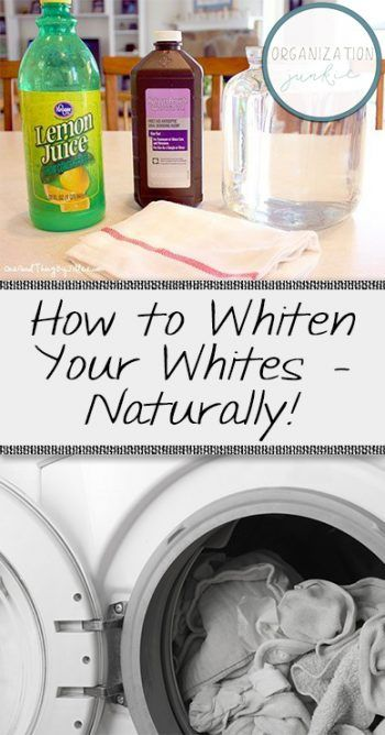 How to Whiten Whites, How to Naturally Whiten Your Whites, Laundry, Laundry Hacks, Laundry Tips, Clean, Clean Laundry, How to Naturally Whiten Dingy Clothes, Natural Laundry Detergent, Natural Bleach Alternatives, Popular Pin