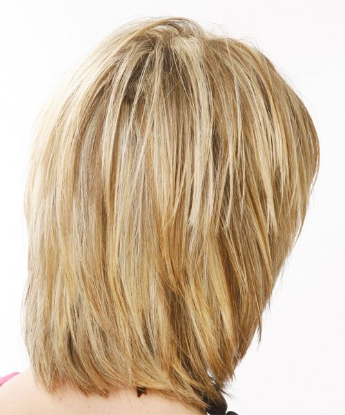 medium stacked hairstyles pictures back views | Casual Medium Straight Hairstyle - - 7388 | TheHairStyler.com