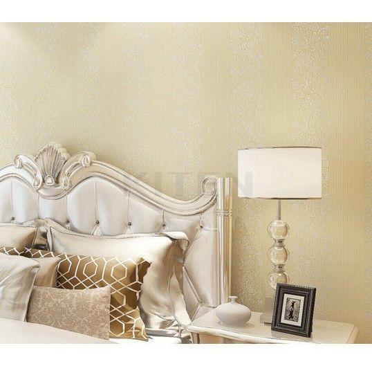 Home Decor Luxury Flocking Embossed Textured Wallpaper Roll Home Improvement #HomeImprovement #HomeDecorIdeas