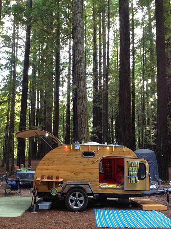 Tiny Yellow Teardrop: Tall Trees & Tiny Trailers: International Redwood Gathering