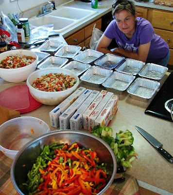 40 Freezer Meals in a Day..you have to scroll down a bit to find this particular blog entry, but it's there. And this is a good one. well organized and (in my opinion) some very appealing recipes.