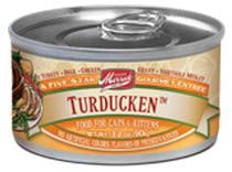 What is up with the name Turducken? Why of course, it is Turkey, Duck, and Chicken...all ingredients present in this canned cat food by Merrick.