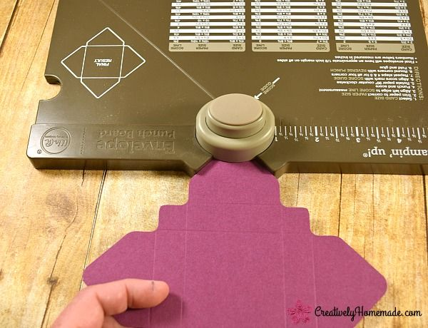 It is so easy to make a box with the envelope punch board! Learn how here!