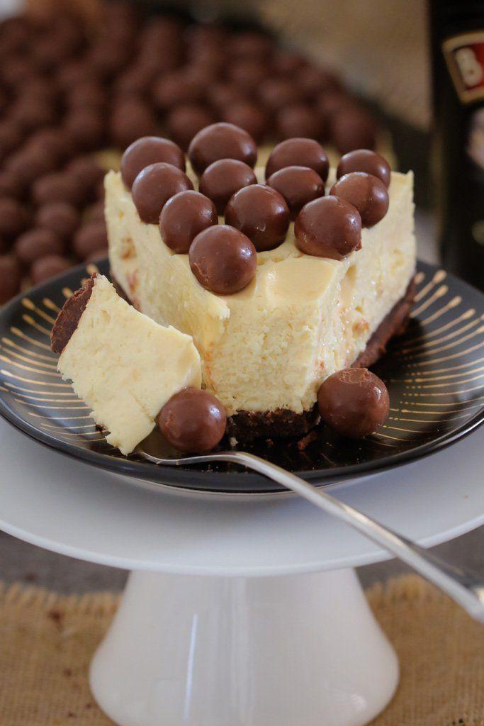 Baileys Malteser Cheesecake No Bake Recipe Baking Cheesecake Recipes Boozy Desserts