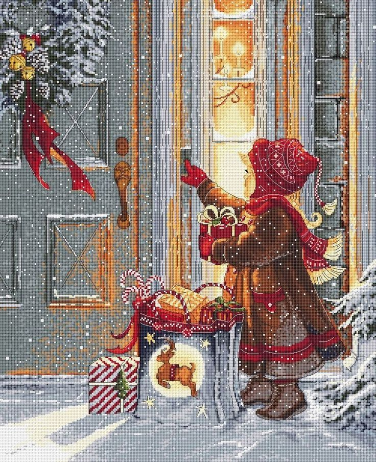 Chart Needlework Crafts DIY Counted Cross Stitch Pattern PDF - Christmas. #NattikStudio