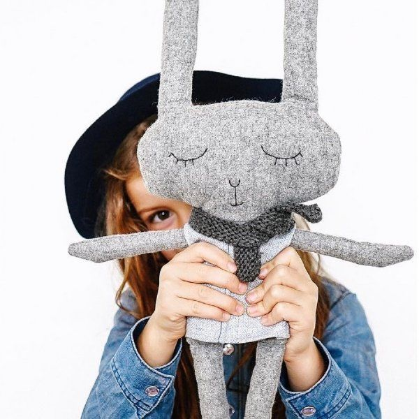 Lloyd looks especially striking in his sky blue tweed shirt and hand knitted scarf.  Lloyd will keep your child entertained for hours. #softtoy #kids #play #thelittlehaven