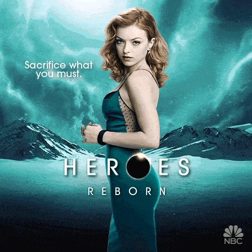 HEROES REBORN Character Motion Posters — GeekTyrant>> I couldn't believe who this was last night! I'm not writing it in case of spoilers