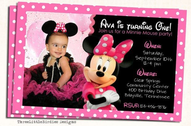 Editable Minnie Mouse Invitation I Trend