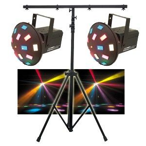 "DJ Lighting Package - Dual LED Raiders & Stand  "" pool party time"""