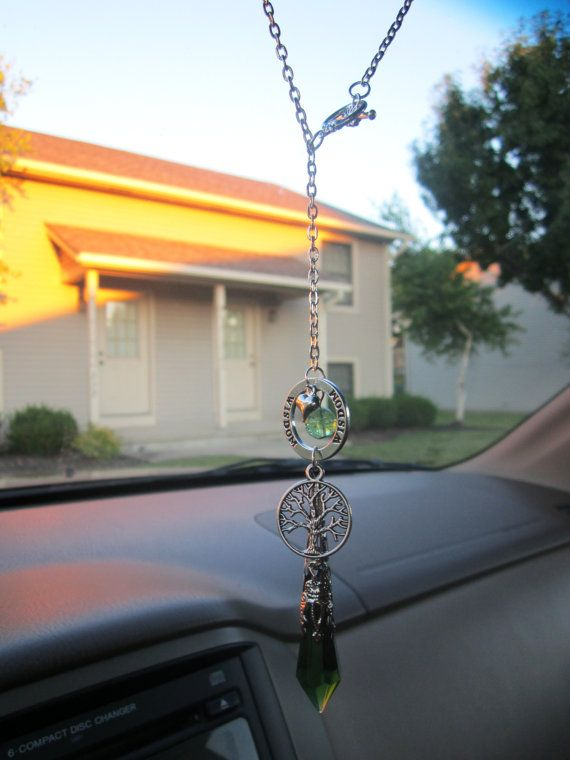 Tree of Life Glow in the Dark Earthly Charm and Wisdom Sun Catcher for Car Rear View Mirror Charm on Etsy, $14.00