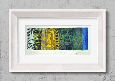 "Saatchi Art Artist Tezcan Bahar; Printmaking, ""Clown Series - 11 - Limited Edition 1 of 1"" #art"