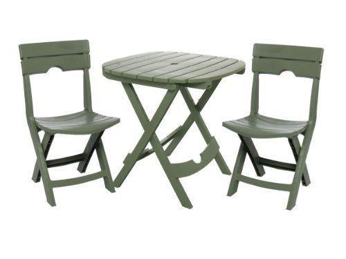 Adams Manufacturing 8590-01-3731 Quik-Fold Cafe Bistro Set Sage