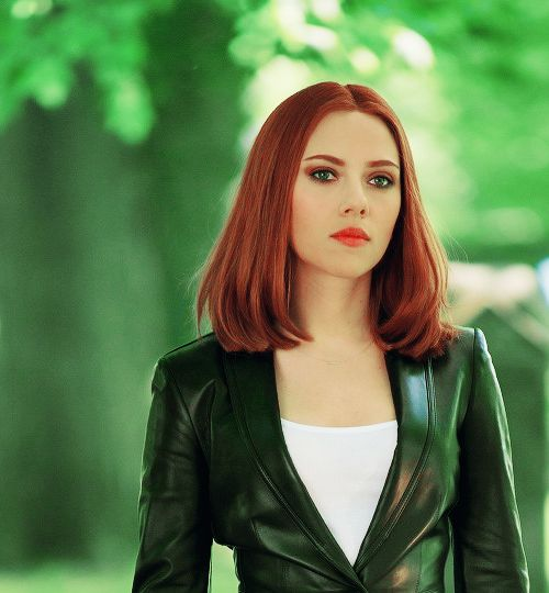 Scarlett as Natasha Romanoff in Captain America: The Winter Soldier