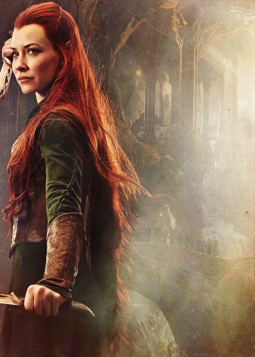Tauriel ~ The Hobbit: Desolation of Smaug. Tauriel was not in Tolkien's legendarium, but what a hottie!