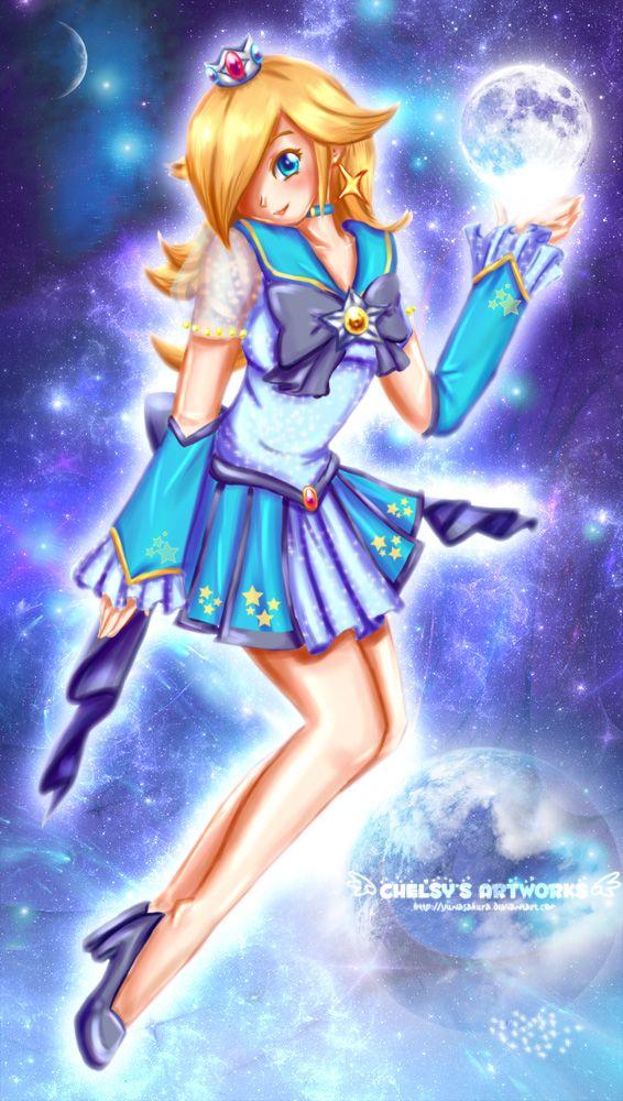 Sailor Rosalina: Rosalina Mario, Anime Manga, Sailor Moon, Mario Character, Anime Rosalina, Anime Uwu, Anime P, Sailor Rosalina