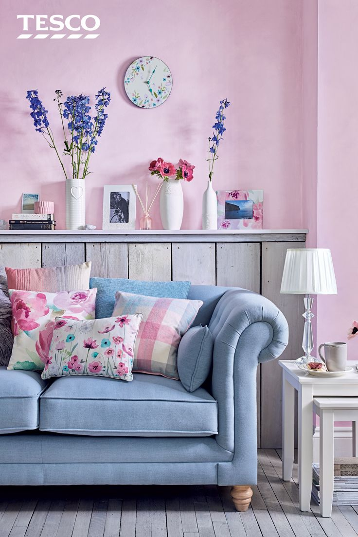 From a luxurious duck egg sofa to a chic nest of tables, our collection of pretty pastel furnishings and floral accessories are all you need to give your living space an instant lift this spring | View a range of luxury interior products on https://www.treniq.com
