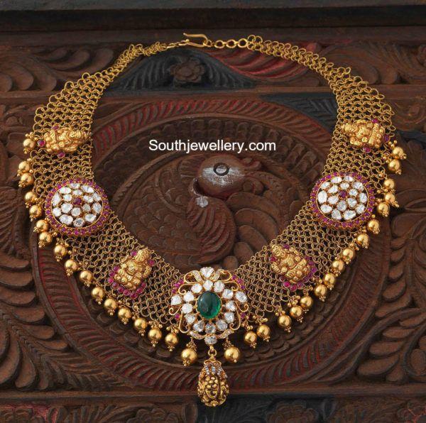 Antique Gold Mesh Necklace