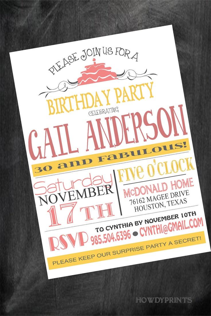 Any AGE Birthday Invitation