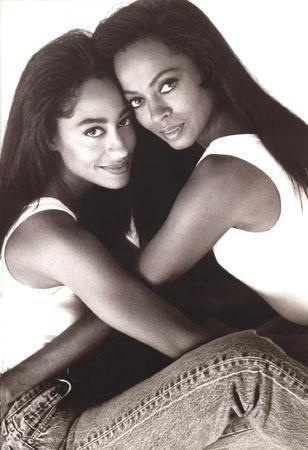 Diana Ross with her daughter actress Tracee Ellis Ross