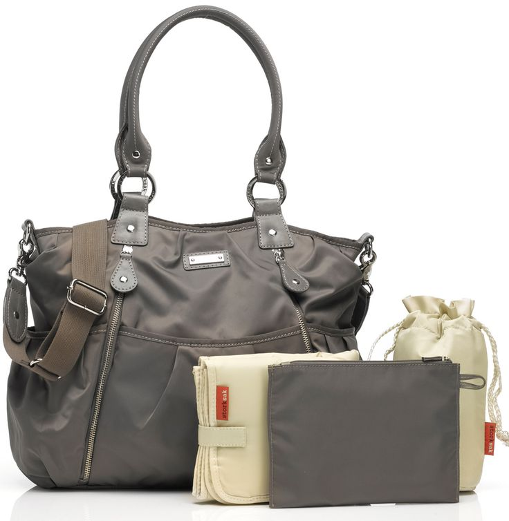 Storksak Grey Olivia Diaper Bag