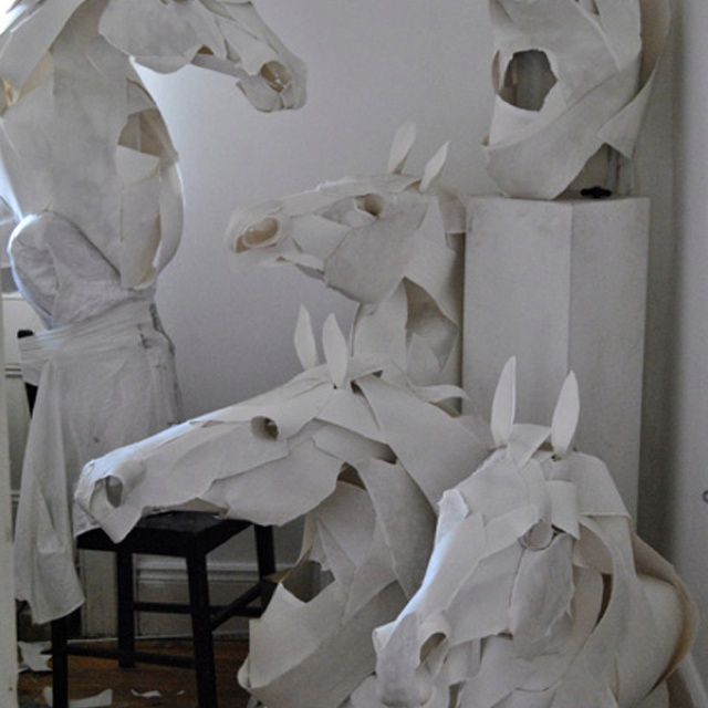 Anna Will-Highfield's paper horses