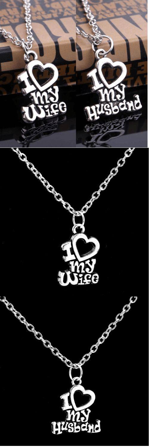 Great Gifts For My Wife Part - 48: I Love My Wife Husband Necklace Pendant: Show Your Special Someone Just How  Much You Care And Love With This Unique, Personalized Pendant Necklace.  Great ...