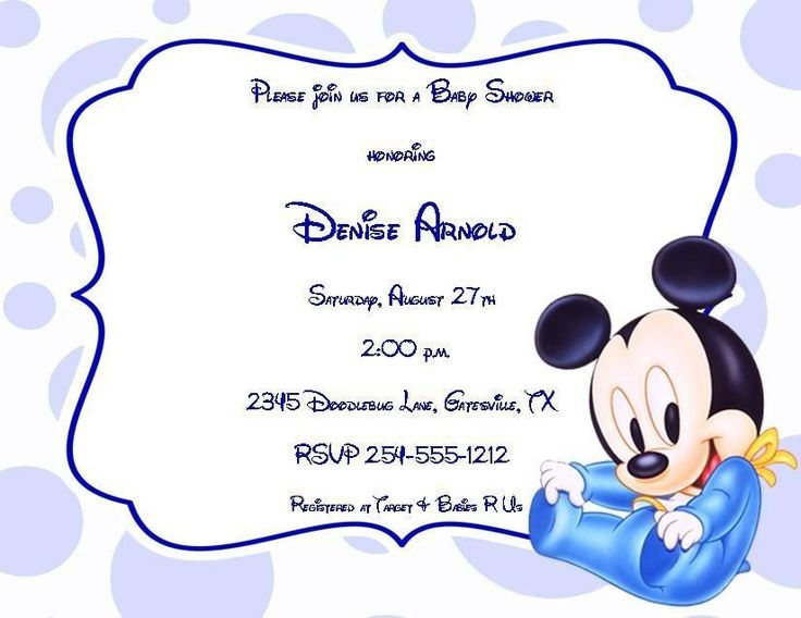24 best disney baby shower invitations images on pinterest | baby, Baby shower invitations