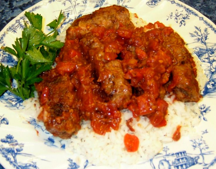 Soutzoukakia+(Greek+Meatballs+in+Tomato+Sauce)