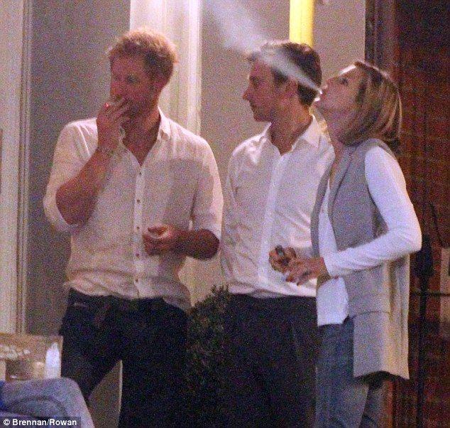 Photos Show Prince Harry Enjoying A Crafty Cigarette At