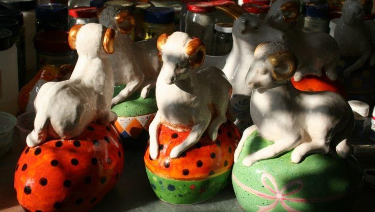 baranki, ceramika szkliwiona Danuta Rożnowska-Borys