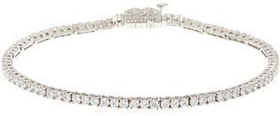 "Judith Ripka As Is Sterling 7-1/4"" Diamonique Tennis Bracelet"
