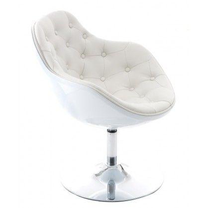Fotel Pezzo pikowany K- biały, S- białe