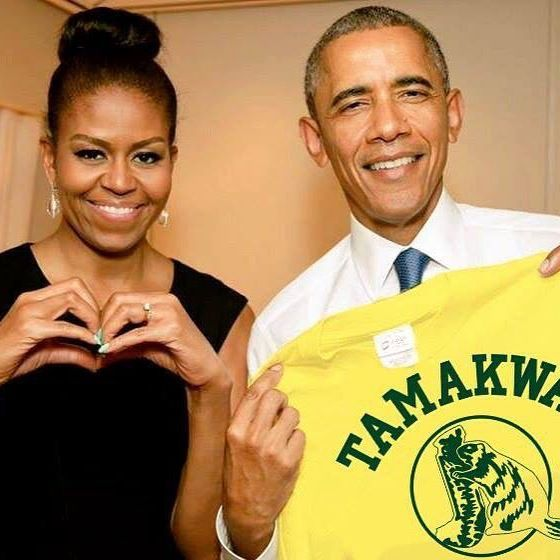 Happy #TamakwaTuesday !!! We think we have found all the posts from #TamakwaShirtDay... But only just found this one! They submitted on time, but it went into the spam folder... Sorry @barackobama !! Loving the #tamakwaspirit in the White House !! If you haven't seen your photo shared please email it to andrea@tamakwa.com so it can be added to the album! Hi @michelleobama #tamakwaclothing #summercamp