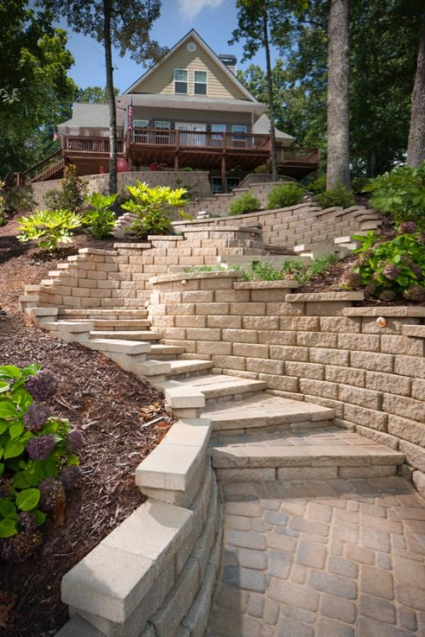 Inspiration  Rocks and Masonary  Patio design Outdoor steps Wall seating