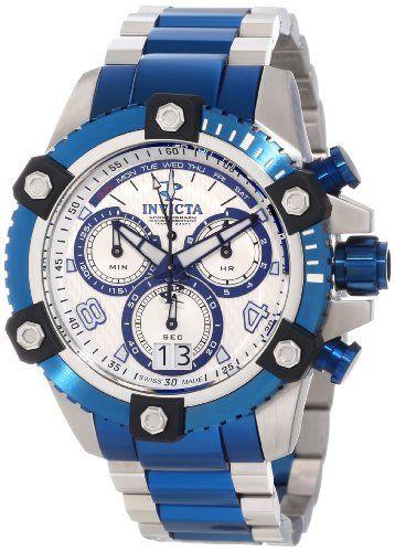 Invicta 11181 Men's Reserve Arsenal Silver Tone Dial Two Tone Bracelet Chronograph Watch.