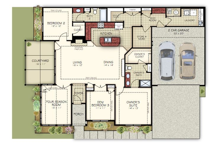 Canterbury Plan At Cottages At Governor S Landing In Knoxville Tn By Epcon Communities Cottage Custom Homes New Homes
