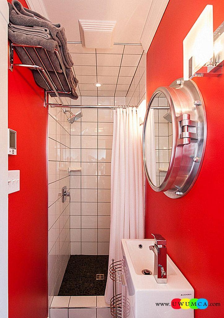 Bathroom:Decorating Modern Summer Bathroom Decor Style Tropical Bath Tubs Ideas Contemporary Bathrooms Interior Minimalist Design Decoration Plans Small Red Bathroom With Overhead Storage Cool and Cozy Summer Bathroom Style : Modern Seasonal Decor Ideas