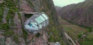 Dormir le long d'une paroi rocheuse à 122 mètres au-dessus du sol ? C'est possible… au Pérou !