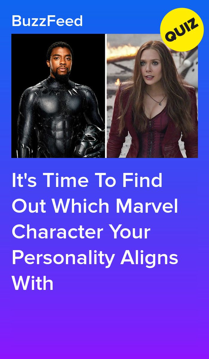 Which Marvel Character Does Your Personality Align With