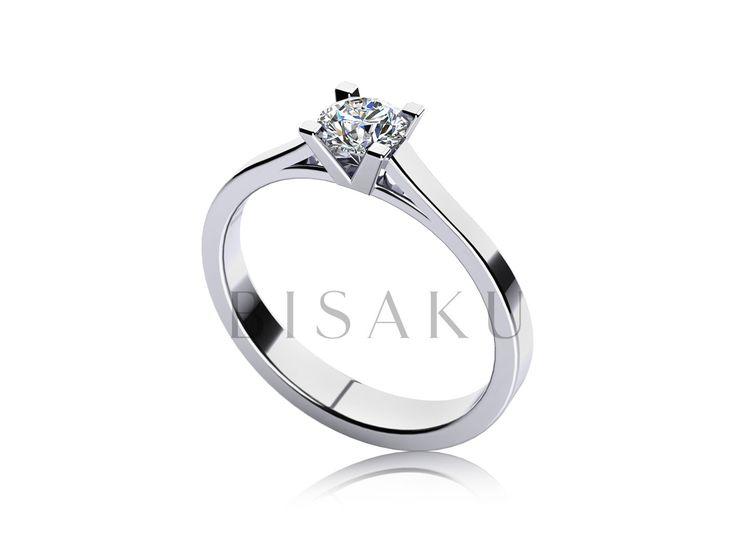 C14 Ocenila by vaše nastávající zásnubní prstýnek, který byl tvarově odlišný? Pak vás jistě zaujme tento model, jehož výraznou dominantou není pouze solitérní kamínek, ale především rovný tvar inklinující k čisté linii. Prsten jistě časem doplní snubní prsten podobného tvaru a profilu. #bisaku #wedding #rings #engagement #svatba #zasnubni #prsteny